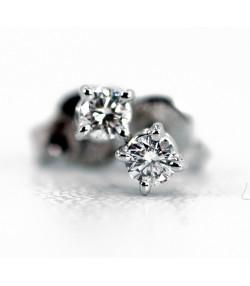 Raffinati Orecchini a punto luce in oro bianco e diamanti