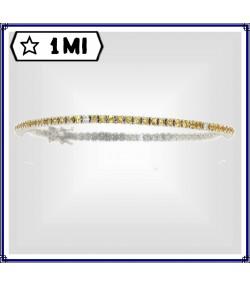 Raffinato Tennis  in oro bianco con Zaffiri gialli e Diamanti