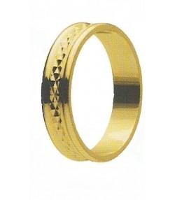 Fedina nuziale o fidanzamento  diamantata Mod 59