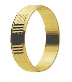 Fedina fidanzamento in oro  diamantata Mod 75