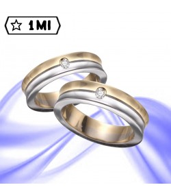 Fedi nuziali-Anello di design mod. 01232