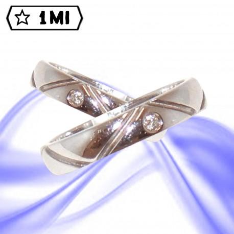 Fedi nuziali-Anello di design mod.01518
