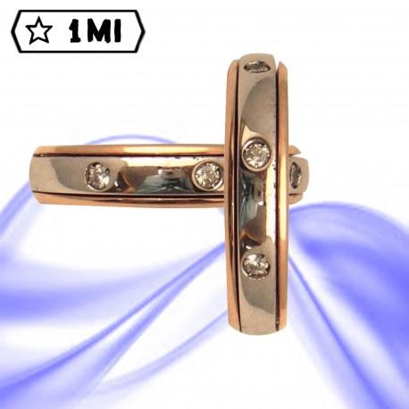 Fedi nuziali-Anello di design mod.02753