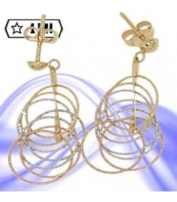 Orecchini donna con anelli diamantati