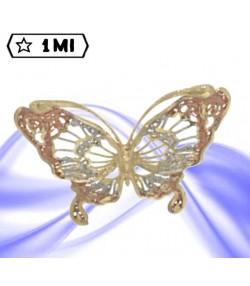 Raffinato ciondolo a forma di farfalla tricolore