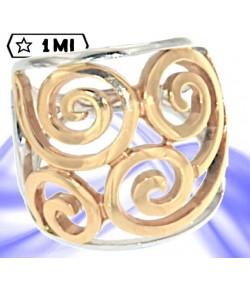 Affascinante anello nei due colori dell'oro