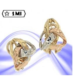 Raffinati orecchini nei tre colori dell'oro