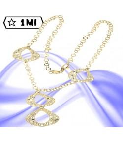 Elegante Collana con ovali in filigrana Diamantati