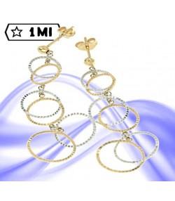 Raffinati orecchini pendenti con cerchi diamantati
