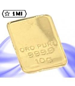 Lingotto 10 Grammi in oro puro 999.9