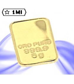 Lingotto 5 grammi in oro puro 999,9