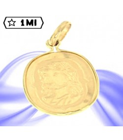 Grazioso ciondolo ovale raffigurante Gesù in oro giallo