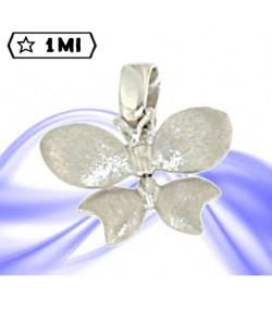 Grazioso ciondolo farfalla in oro bianco e satinato