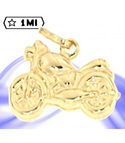 Charm moto castom in oro giallo