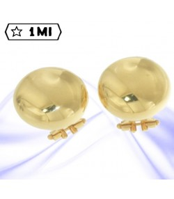 Eleganti orecchini in oro giallo a clips