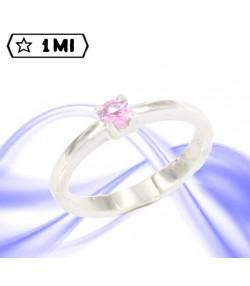Solitario Jewels con zaffiro rosa da 27 punti