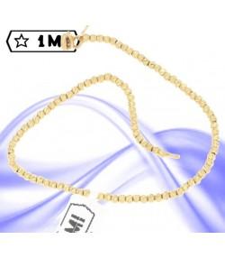 Raffinato bracciale in oro giallo pallini diamantati