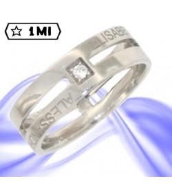 Raffinata veretta D-Clare in platino con diamanti