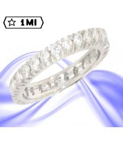 Raffinata veretta in oro bianco con 27 diamanti naturali