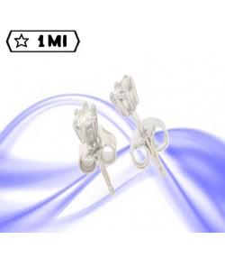 Signorili orecchini punto luce in oro bianco con diamanti