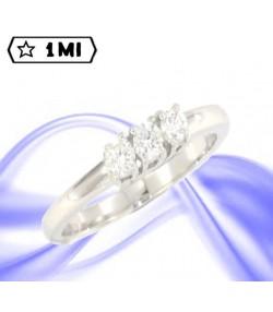 Elegante Trilogy Elevade in oro bianco con diamanti  0,30ct tot.