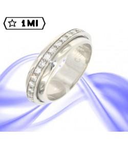 Elegante Veretta DP70 in platino con diamanti  tot.0,64ct