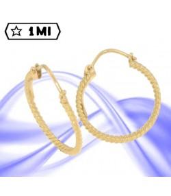 Eleganti orecchini a cerchio in oro giallo