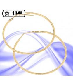 Eleganti orecchini in oro giallo a cerchio medio