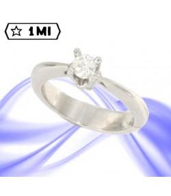 Elegante Solitario Elevade in oro bianco con diamante da 0,25ct