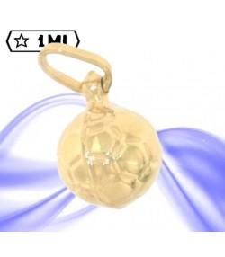 Grazioso ciondolo in oro giallo forma pallone da calcio
