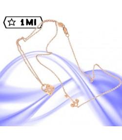 Raffinata collana con lucchetto e chiave in oro rosa