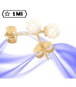 Raffinati orecchini in oro giallo con perla