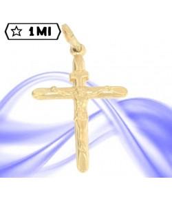 affascinante croce in oro giallo gesù in oro giallo