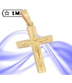 Raffinata croce in oro giallo con gesù