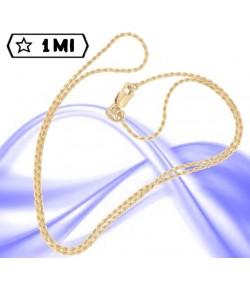 Elegante collana maglia corda piccola in oro giallo