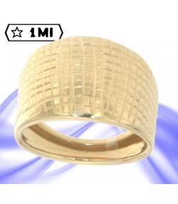 Raffinato anello chevalier in oro giallo