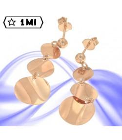 Bellissimi orecchini pendenti in oro rosa