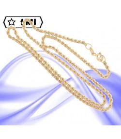 Elegante collana maglia corda in oro giallo