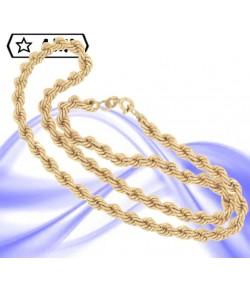 Elegante collana maglia corda grande in oro giallo