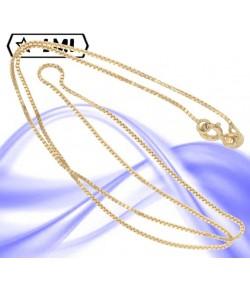 elegante collana maglia veneziana in oro giallo