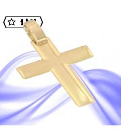 raffinata croce piatta in oro giallo
