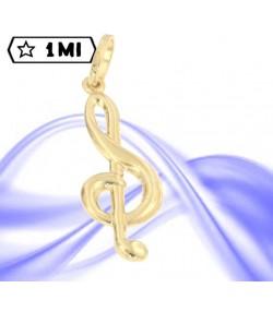 bellissimo ciondolo nota musicale in oro giallo