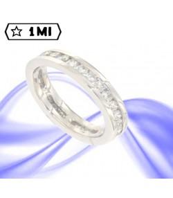 Raffinata revier in oro bianco con diamanti ct. tot. 1,19