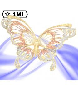 bellissimo ciondolo a farfalla in filigrana nei tre colori dell'oro