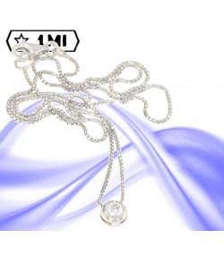 elegante punto luce montatura a cipolla con diamante naturale da 0,15ct