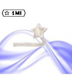 piercing da naso in oro bianco a forma di stella