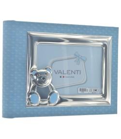 album azzurro porta foto orsetto in argento10286 1C