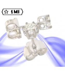 Bellissimi orecchini punto luce in oro bianco con diamanti caratura tot 0,54ct