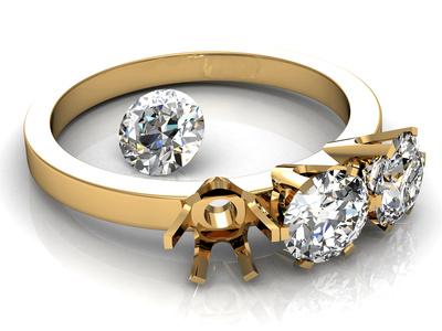 montatura per solitario con diamante