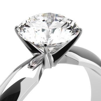 solitario in oro con diamante